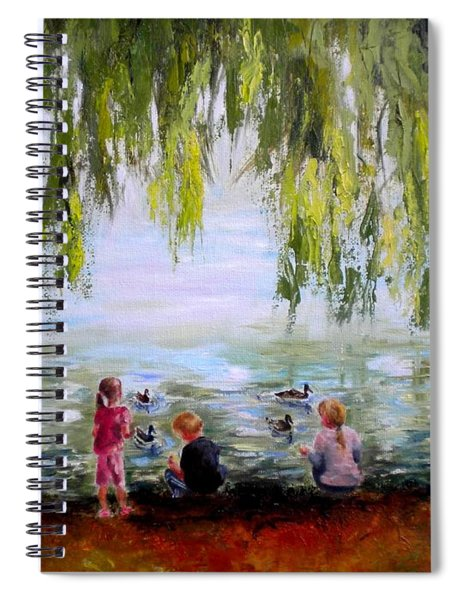 Feeding Ducks At Fort Dent Park Spiral Notebook
