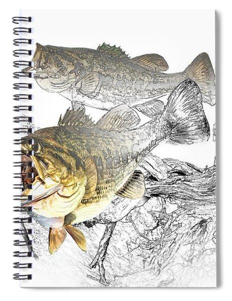 Feeding Largemouth Black Bass Spiral Notebook