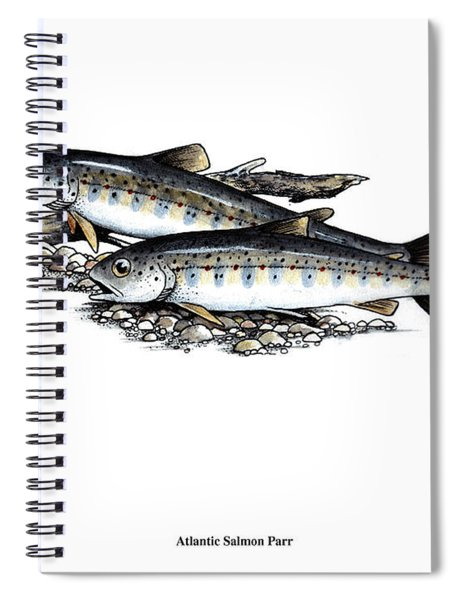 Feeding Parr Spiral Notebook
