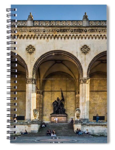 Feldherrnhalle Spiral Notebook by John Wadleigh