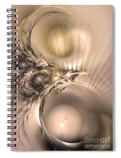 Femina Et Vir - Abstract Art Spiral Notebook