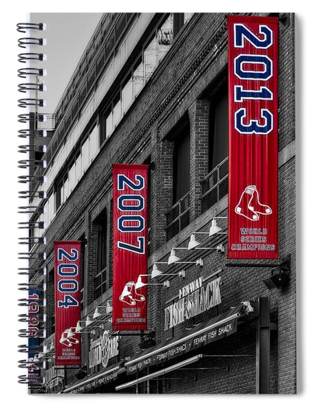 Fenway Boston Red Sox Champions Banners Spiral Notebook