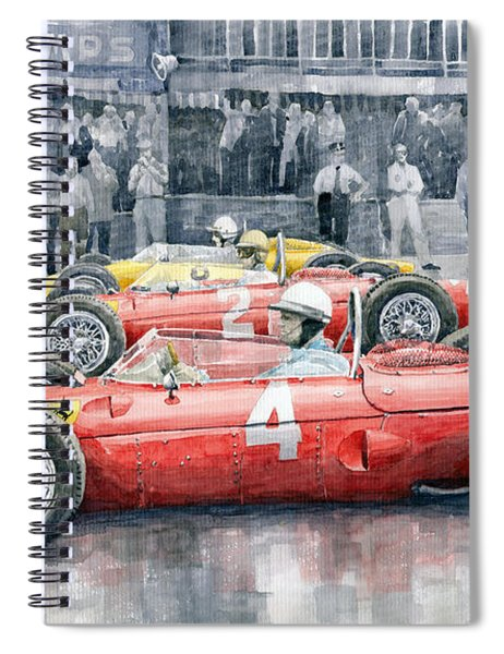 Ferrari 156 Sharknose 1961 Belgian Gp Spiral Notebook