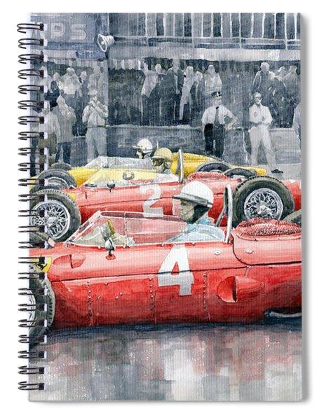 Ferrari 156 Sharknose 1961 Belgian Gp Spiral Notebook