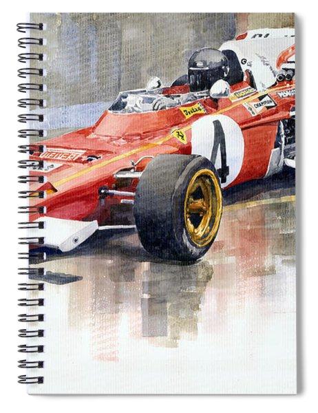 1971 Ferrari 312 B2 1971 Monaco Gp F1 Jacky Ickx Spiral Notebook