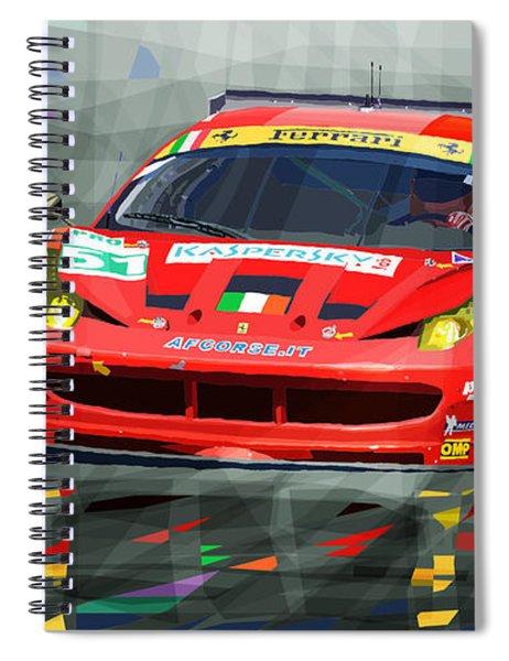 2012 Ferrari 458 Gtc Af Corse Spiral Notebook