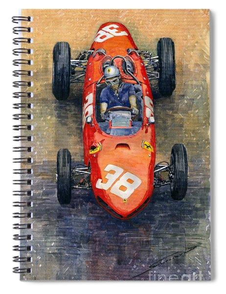 Ferrari Dino 156 1962 Monaco Gp Spiral Notebook