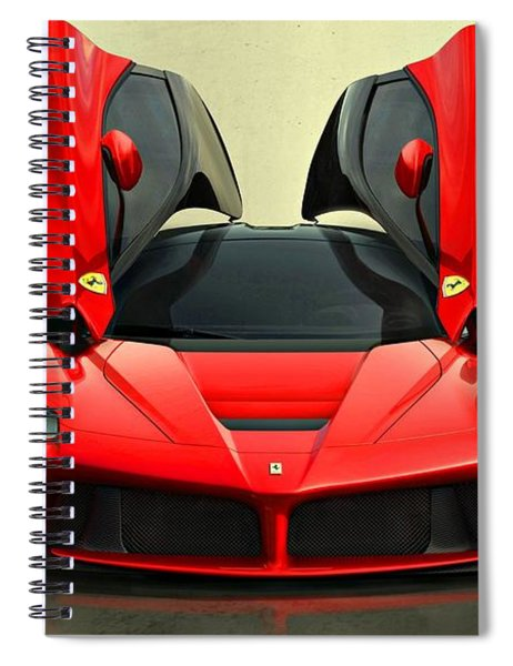 Spiral Notebook featuring the photograph Ferrari Laferrari F 150 Supercar by Movie Poster Prints