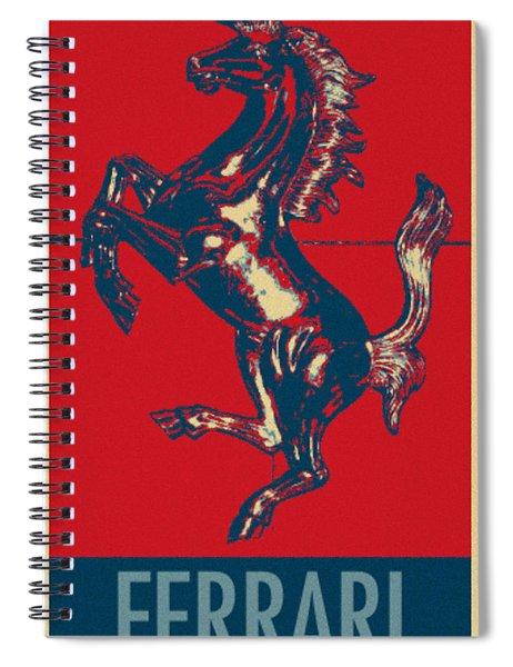 Ferrari Stallion In Hope Spiral Notebook