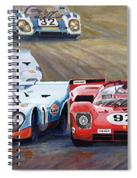 Ferrari Vs Porsche 1970 Watkins Glen 6 Hours Spiral Notebook