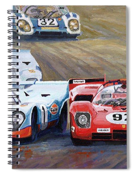 Ferrari Vs Porsche 1970 Watkins Glen 6 Hours Spiral Notebook