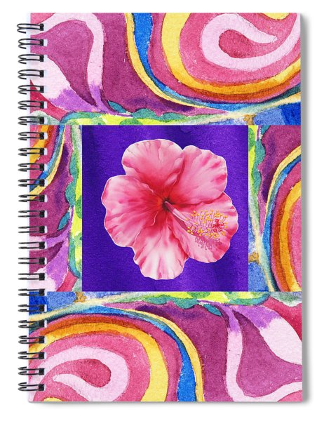 Festive Floral Hibiscus  Spiral Notebook