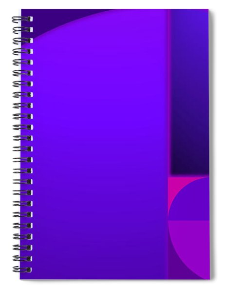 Fibonacci Blue Spiral Notebook