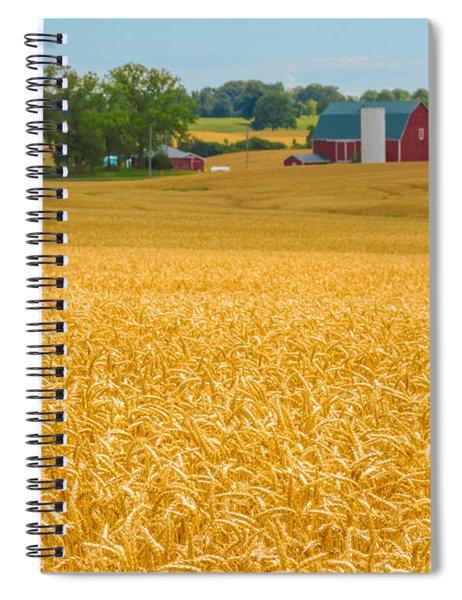 Fields Of Gold Spiral Notebook