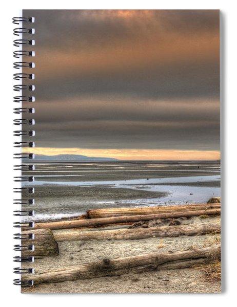Fiery Sky Over The Salish Sea Spiral Notebook