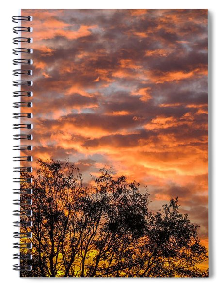 Fiery Sunrise Over County Clare Spiral Notebook