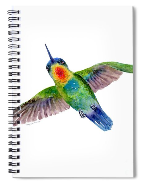 Fiery-throated Hummingbird Spiral Notebook