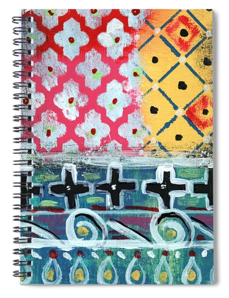 Fiesta 6- Colorful Pattern Painting Spiral Notebook