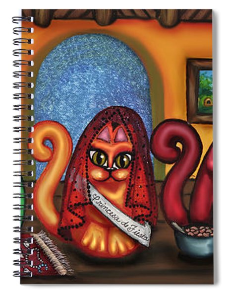 Fiesta Cats Or Gatos De Santa Fe Spiral Notebook