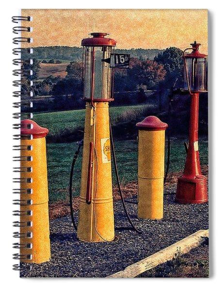 Fill 'er Up Vintage Fuel Gas Pumps Spiral Notebook