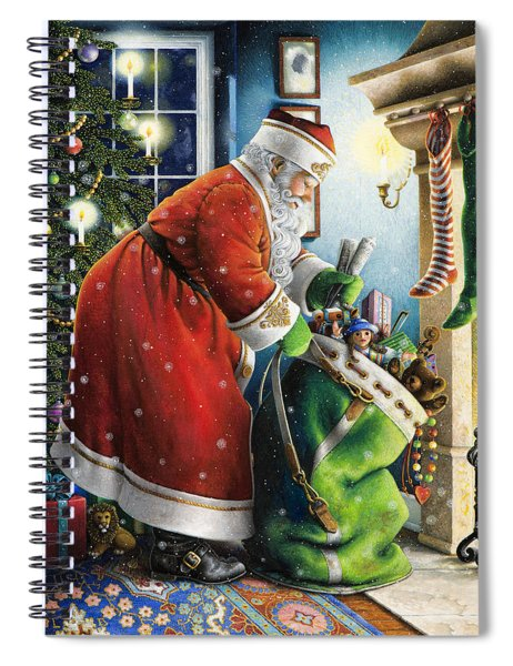 Filling The Stockings Spiral Notebook