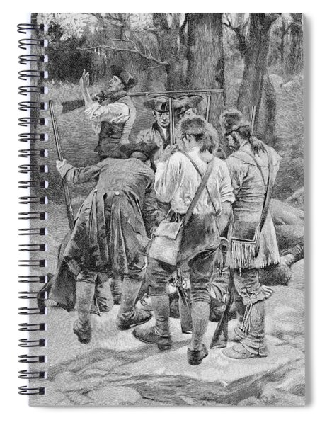 Finding The Body Of One Of Their Companions, Scalped And Horribly Mangled, Engraved By F.h Spiral Notebook