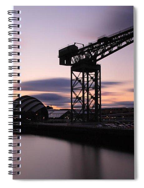 Finnieston Crane Glasgow  Spiral Notebook