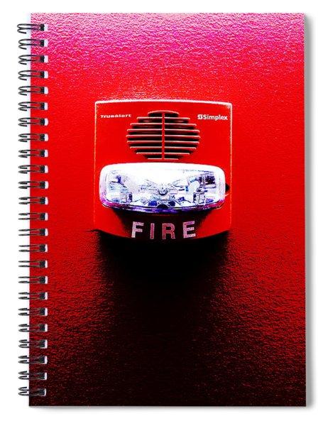 Fire Alarm Strobe Spiral Notebook