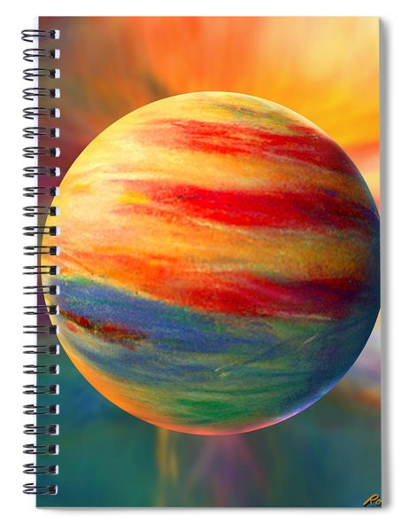 Fire And Ice Ball  Spiral Notebook