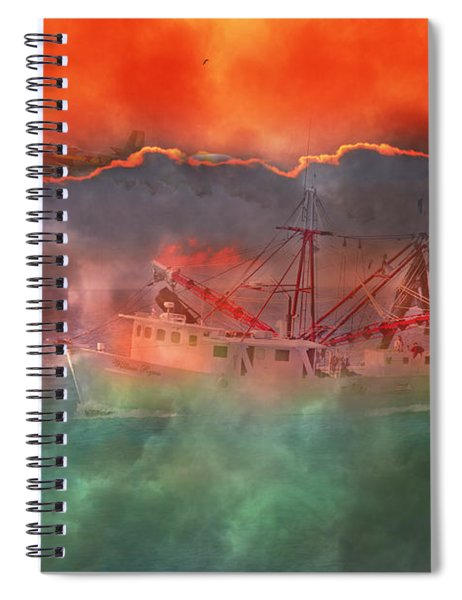 Fire And Ice Misty Morning Spiral Notebook
