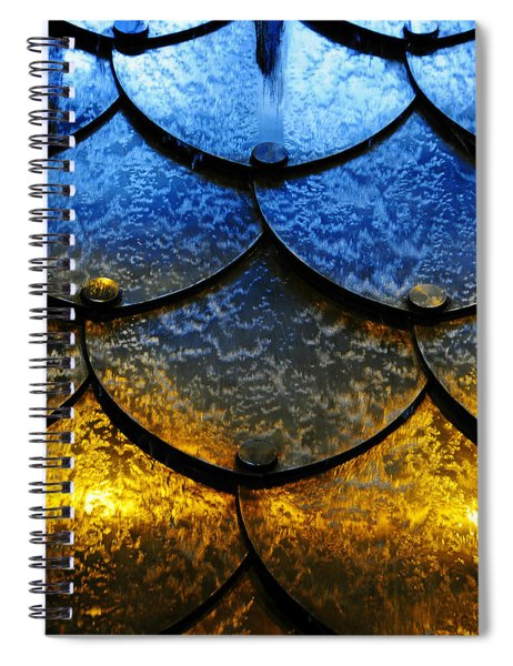 Spiral Notebook featuring the photograph Fire And Ice by Skip Hunt