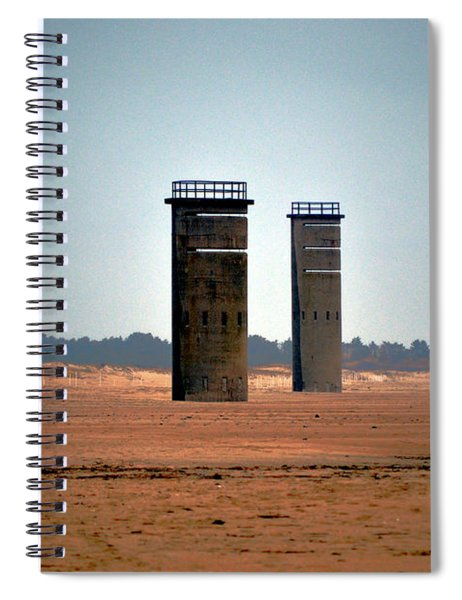 Fct5 And Fct6 Fire Control Towers On The Beach Spiral Notebook