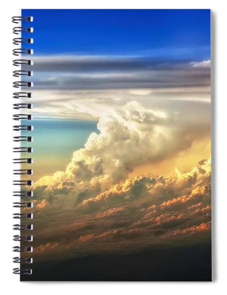 Fire In The Sky From 35000 Feet Spiral Notebook