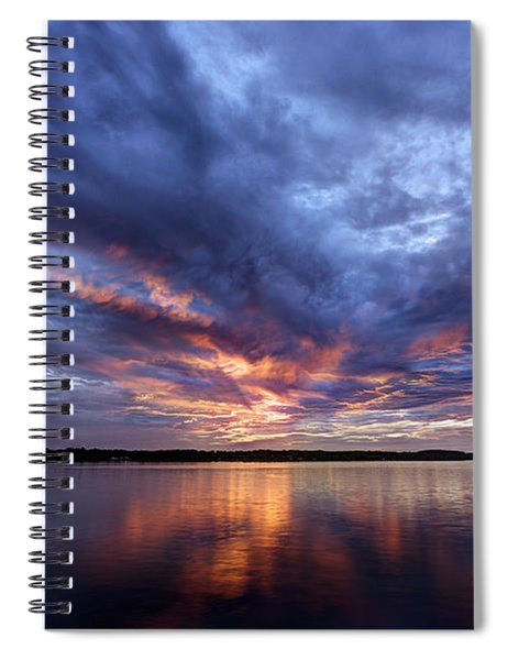 Fire In The Sky Sunset Over The Lake Spiral Notebook