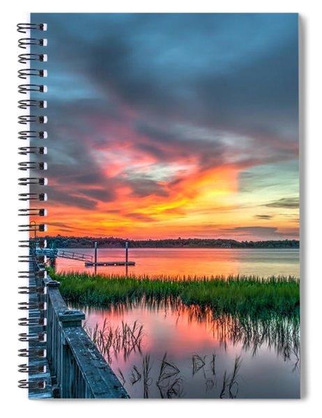 Fire Light Spiral Notebook