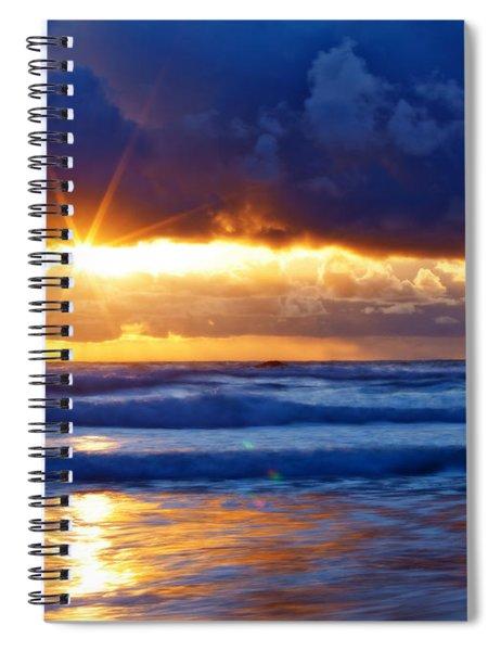 Fire On The Horizon Spiral Notebook