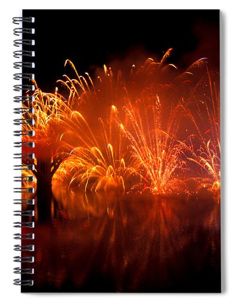 Fire On The Water Spiral Notebook