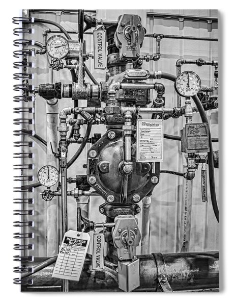 Fire Sprinkler System Riser Spiral Notebook