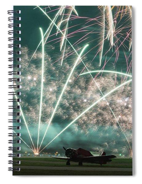 Fireworks And Aircraft Spiral Notebook