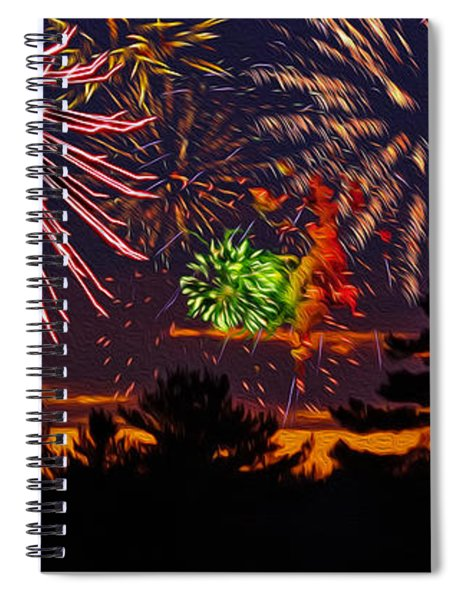 Fireworks No.1 Spiral Notebook