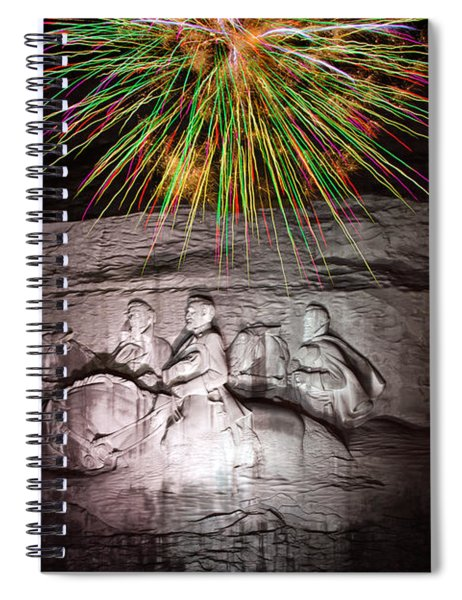 Fireworks Over Stone Mountain Spiral Notebook