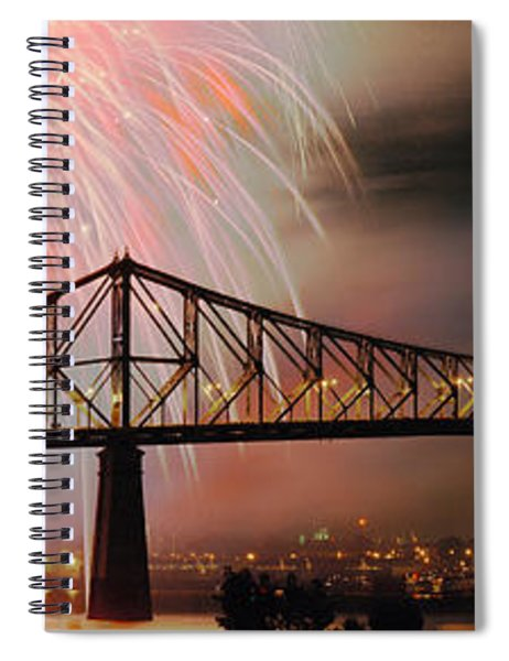 Fireworks Over The Jacques Cartier Spiral Notebook