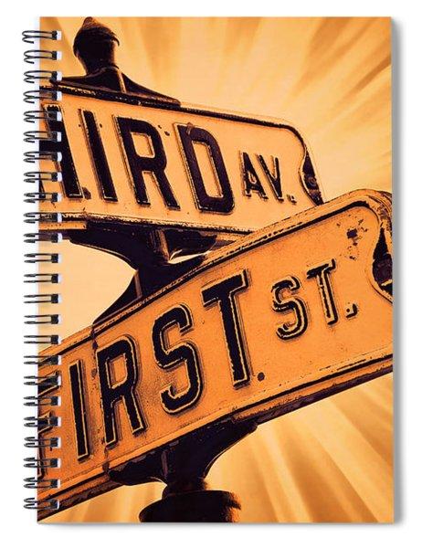 First And Third Spiral Notebook