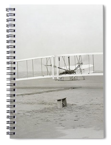 First Flight Captured On Glass Negative - 1903 Spiral Notebook