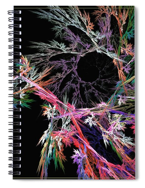 First Flower - Abstract Art Spiral Notebook