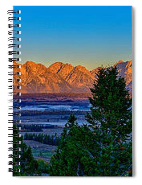 First Light On The Tetons Spiral Notebook