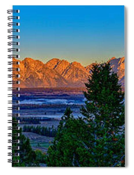First Light On The Tetons Spiral Notebook