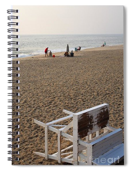First On The Beach At Bethany Beach In Delaware Spiral Notebook