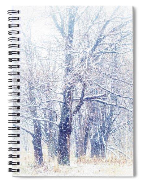 First Snow. Dreamy Wonderland Spiral Notebook