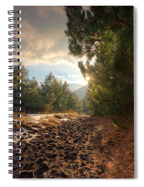 First Snow On Mount Etna Spiral Notebook